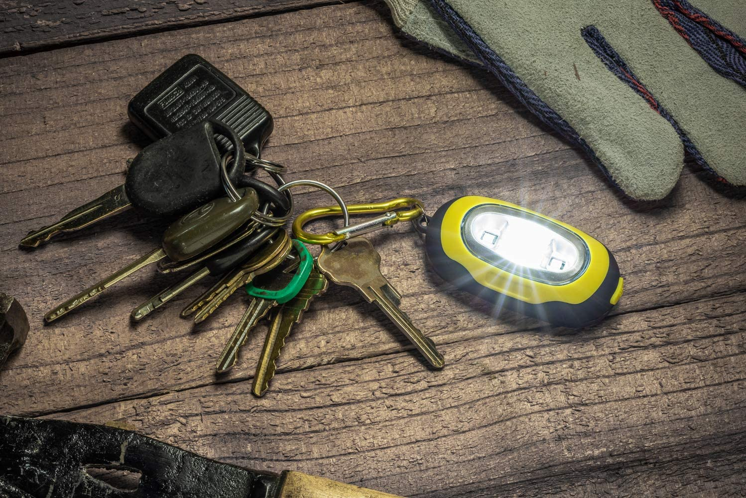 FL3825-24 24 PC. SE Assorted Color 2-in-1 SMD Keychain Flashlights