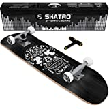 "Skatro - Pro Skateboard 31"" Complete Skateboard. Skate Board Ages: Adults, Boys, Girls, Beginners, and Kids"