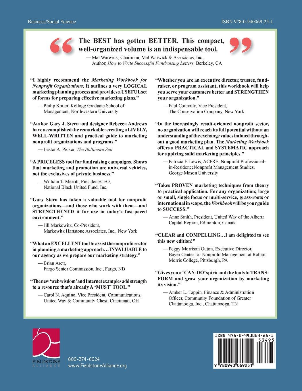 Marketing Workbook for Nonprofit Organizations Volume 1: Develop ...