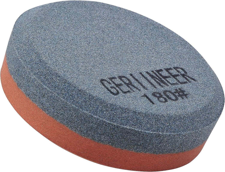 GERIINEER Piedra Afilar Hacha, Piedra Afilar Cuchillos 2-IN-1, Piedra de Afilar para herramientas de jardín Cuchillos de cocina Cinceles Hachas (Grano 180/320)