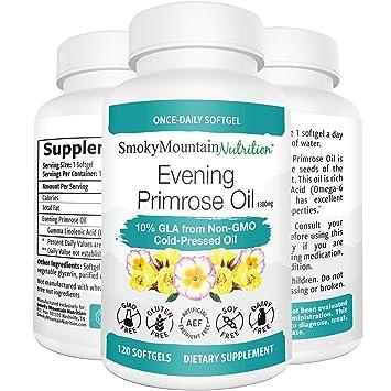 Amazon.com: Aceite de Primrose de noche 1300mg- 120 Líquidos ...