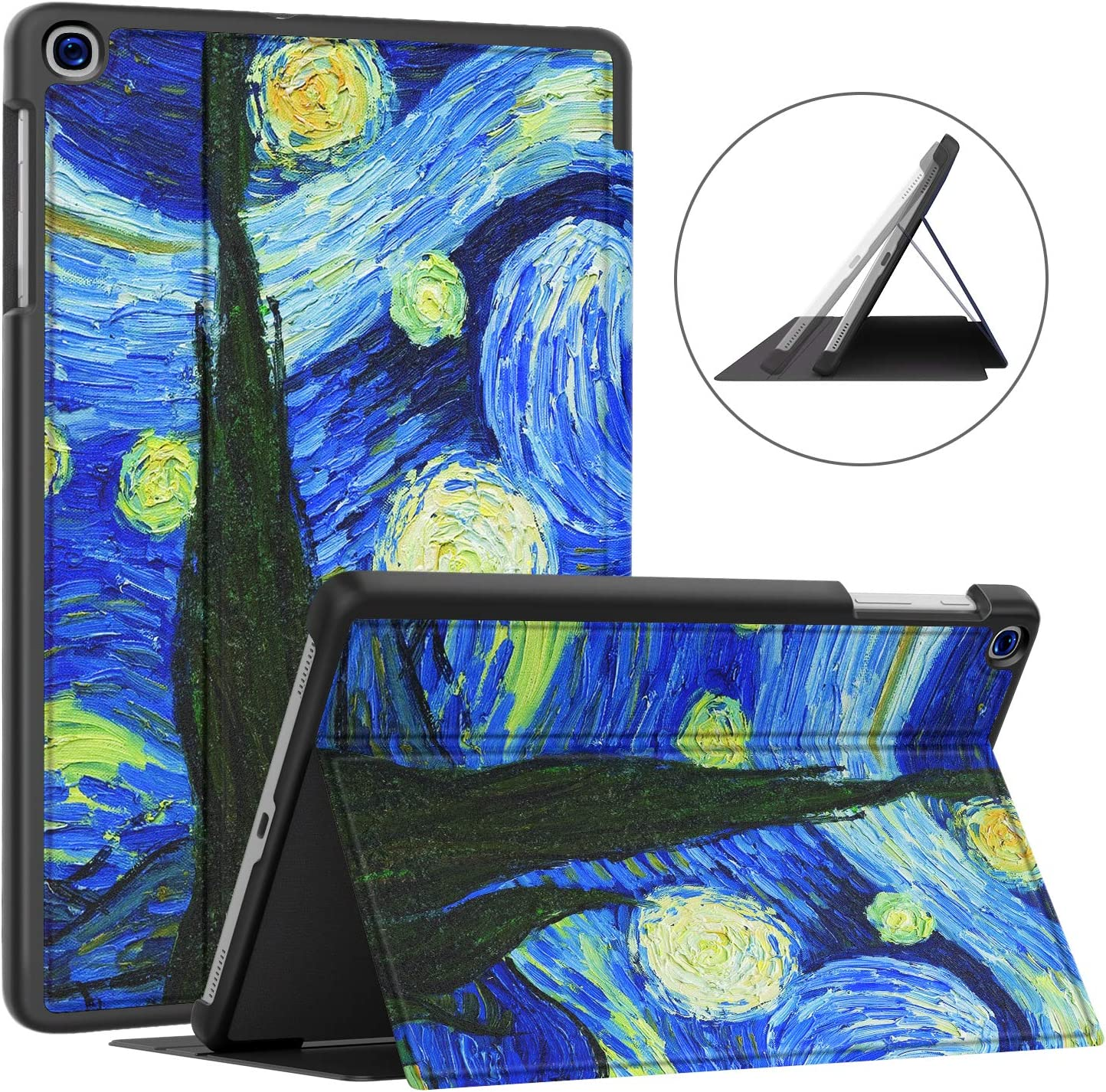 Soke Galaxy Tab A 10.1 Case 2019, Premium Shock Proof Stand Folio Case,Multi- Viewing Angles, Soft TPU Back Cover for Samsung Galaxy Tab A 10.1 inch Tablet [SM-T510/T515/T517],Starry Night