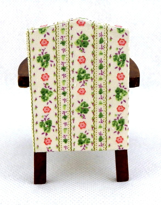 Dolls House NOCE Chintz Sheraton Poltrona Mobili in miniatura Soggiorno