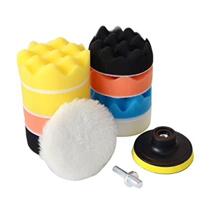 9pcs Polishing Buffing Sponge Pad Kit For Car Polisher Buffer Pads 4 Inch 100mm