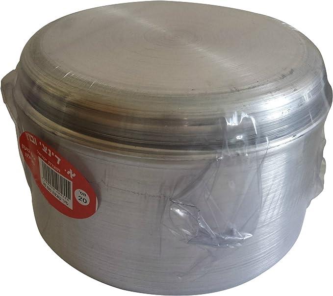 jachnun aluminio cuenco olla batería de cocina original tradicional Yemenite judío plato de cocina de cocción de alimentos sellado: Amazon.es: Hogar
