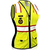 KwikSafety (Charlotte, NC) FIRST LADY Safety Vest for Women | Class 2 ANSI OSHA PPE | High Visibility Heavy Duty Mesh…