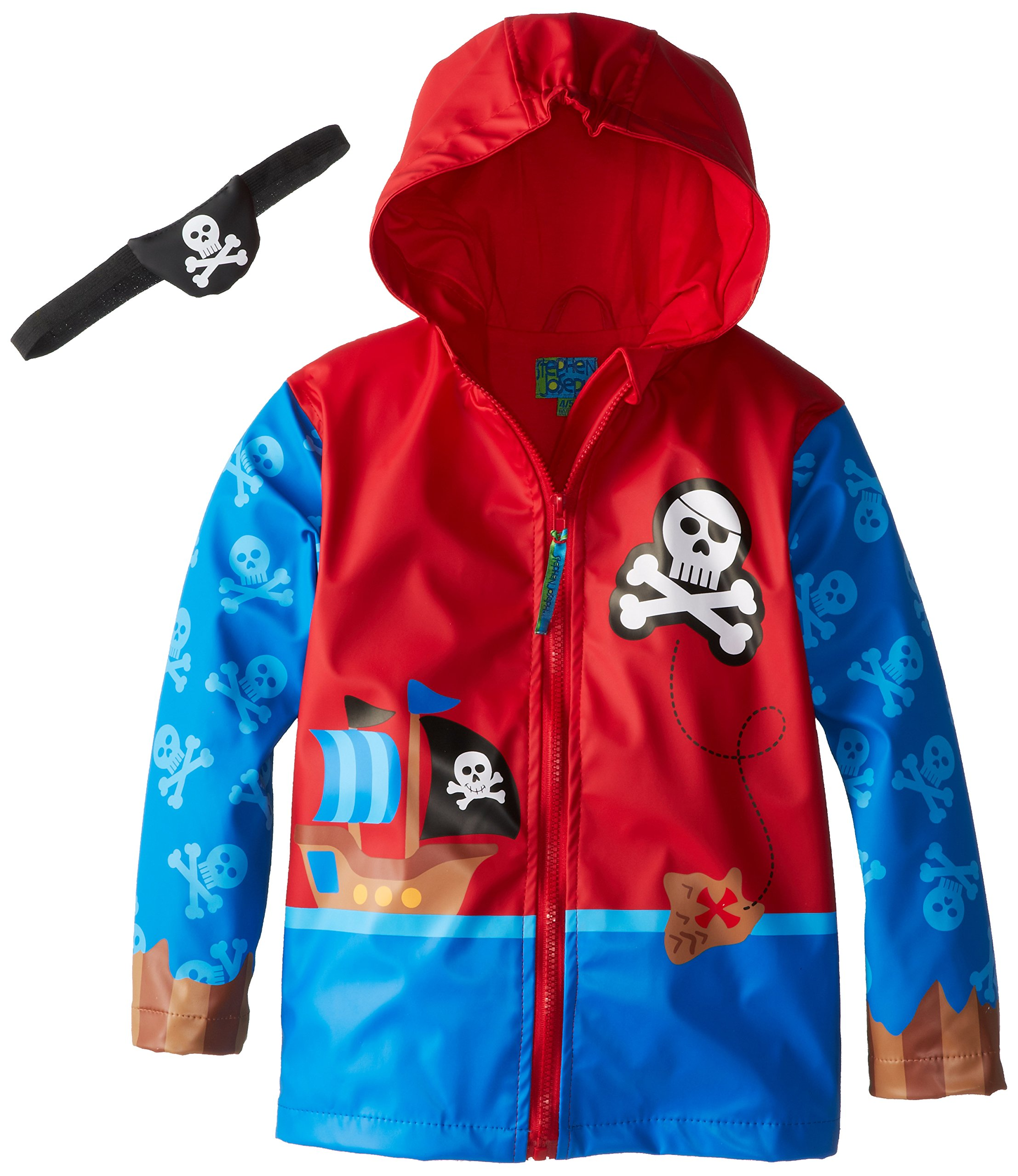 Stephen Joseph Toddler' Little Boys' Monkey Rain Coat, Pirate, 2T