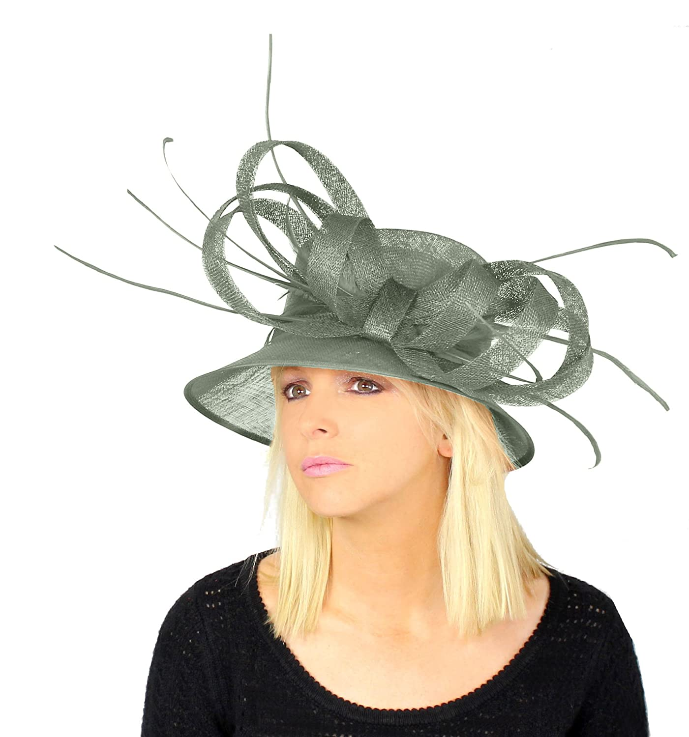 Amazon.com  Hats By Cressida Beautiful Kentucky Derby Bow and Biot Hat  Women s - Baby Blue  Clothing 74f3521d184a
