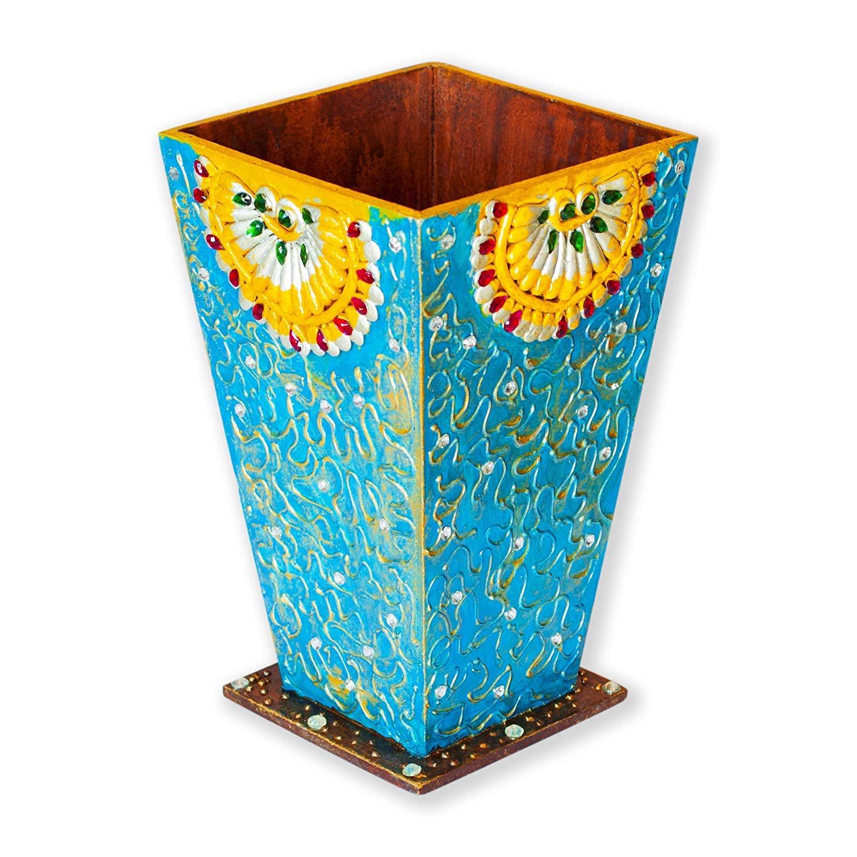 Amazon Indian Decorative Wooden Handmade Flower Vase Potwooden