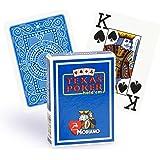 """MODIANO """"Texas Poker Hold´em"""" - 100% Plastik Kartenspiel, 2 Pips / Eckzeichen im Jumbo Index, mittelblau"""