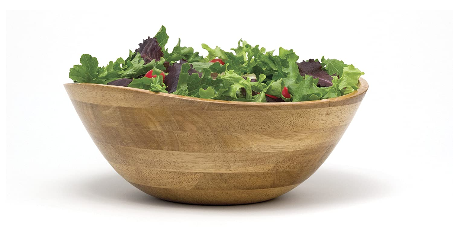 Single Bowl Lipper International 2173 Cherry Finished Wavy Rim Serving Bowl for Fruits or Salads Small 6-1//8 Diameter x 3 Height
