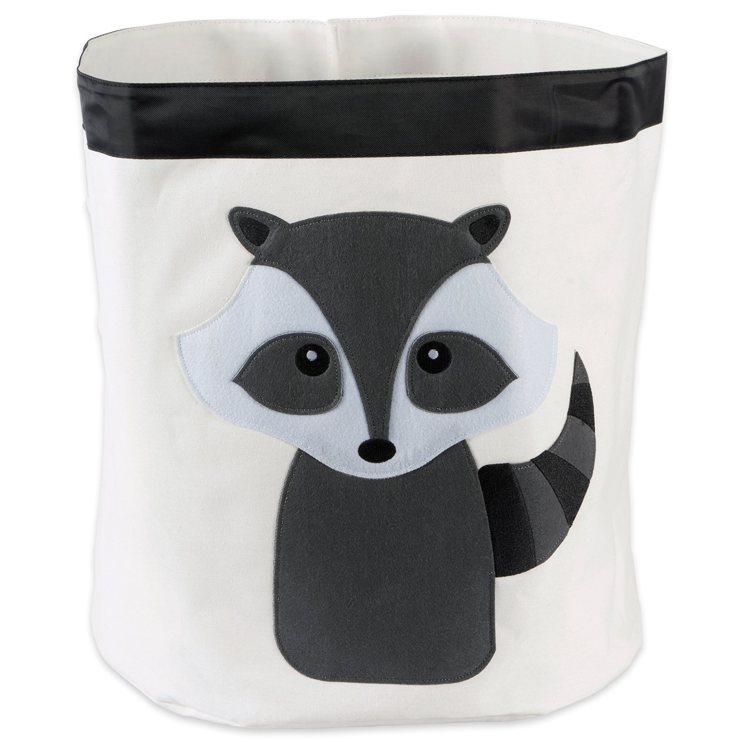 E-Living Store Collapsible Storage Bin Basket for Bedroom, Nursery, Playroom and More 17x18 Diameter - Raccoon