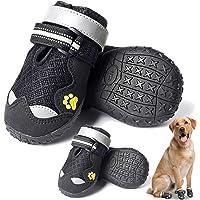 HOOLAVA Botas para perro, zapatos impermeables para perros con suela ajustable y reflectante, antideslizante…