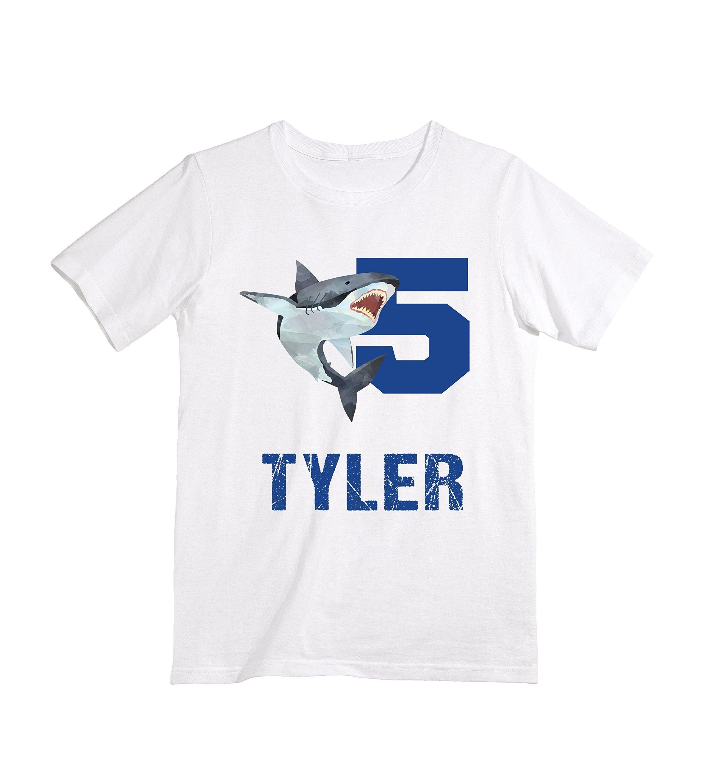Happy Lion Clothing - Personalized Custom Shark birthday shirt for Boys