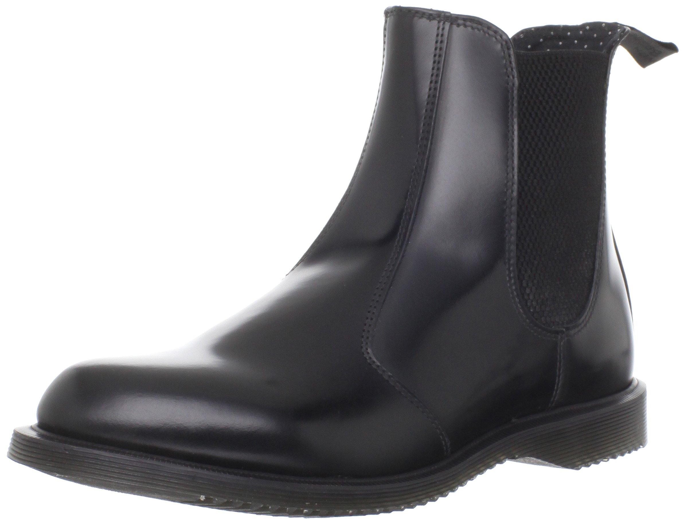 Dr. Martens Women's Leather Flora Chelsea Boot, Black, 5 UK/7 US by Dr. Martens