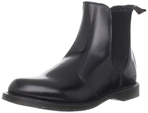 DrMartens Flora Femme Boots Polished Smooth BlackChelsea CxWBoedr