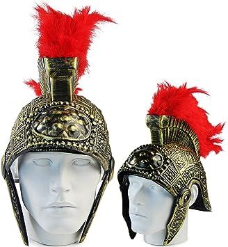 Seiler24 casco romano de legionario oro de casco de guerrero antiguo gladiador