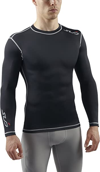 SUB Sports DUAL T shirt de Compression Manches Longues Homme
