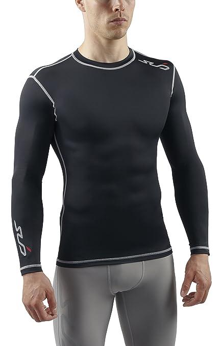 innovative design 4a894 f2fce Sub Sports Mens Long Sleeve Compression Top Base Layer Vest -S