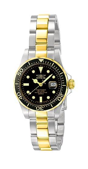 c9f8e8127be5d0 Invicta Pro Diver - 4867 Orologio da Polso, Analogico, Donna, Cinturino  Acciaio Inossidabile