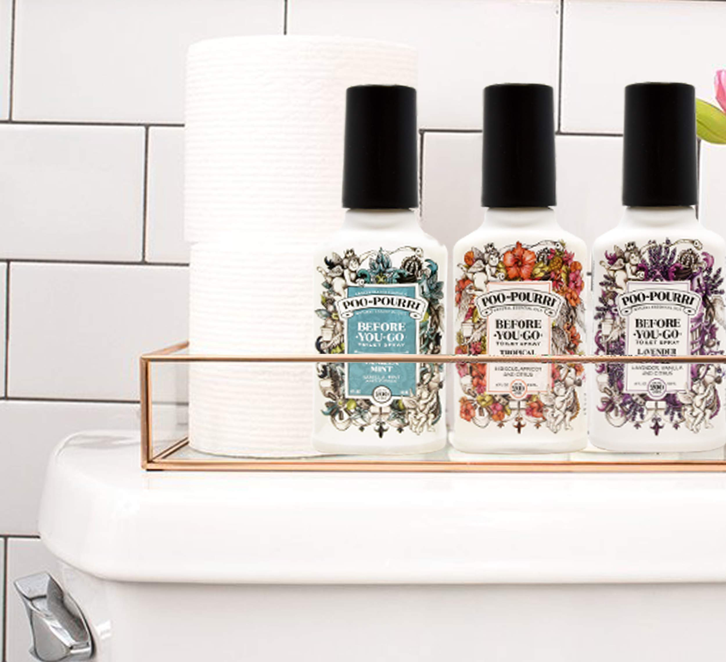 Poo-Pourri Lavender Vanilla, Tropical Hibiscus and Vanilla Mint 4-Ounce Set by Poo-Pourri (Image #3)