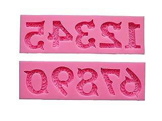 [Ever giardino] numeri di silicio stampo / candela / argilla / resina stampo di silicone / handmade del sapone / / die-cut tipo