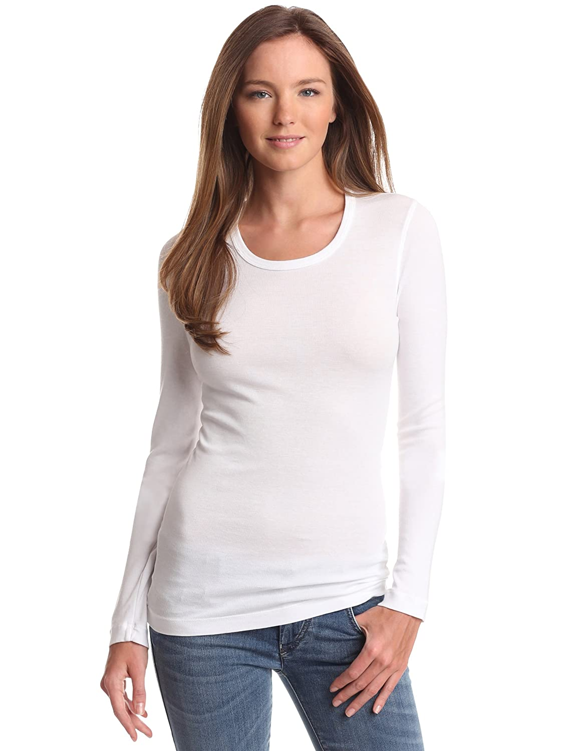 Amazon.com: Splendid Women's 1X1 Long-Sleeve Crew T-Shirt: Clothing
