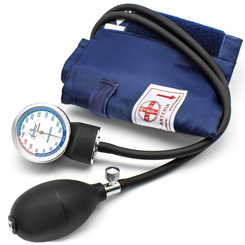 AIESI Esfigmomanometro Tensiómetro Manual Profesional Aneroide clasico con brazalete de nylon adultos y estetoscopio DOCTOR PRECISION ✓ Medidor de presión ...