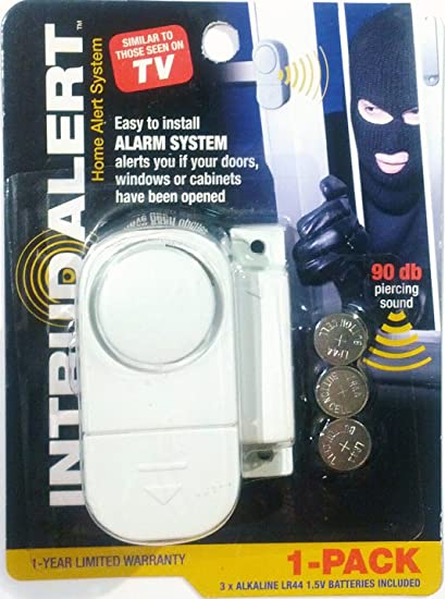 Intrud Alert Window u0026 Door Alarm Battery Operated; Compact; White  sc 1 st  Amazon.com & Amazon.com: Intrud Alert Window u0026 Door Alarm: Battery Operated ...