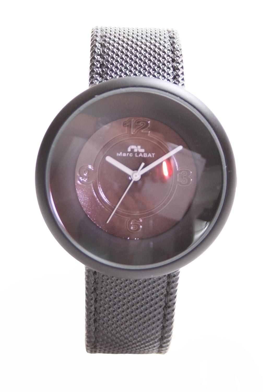Marc Labat H10MON5255N - Reloj analógico para mujer de sintético negro