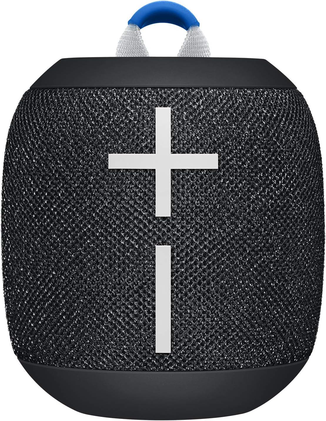 Ultimate Ears Wonderbooms 2 Altavoz Inalámbrico, Graves Profundos, Sonido Envolvente de 360°, Impermeable, Conexión de 2 Altavoces para Sonido Potente, Batería de 13 h, color Negro