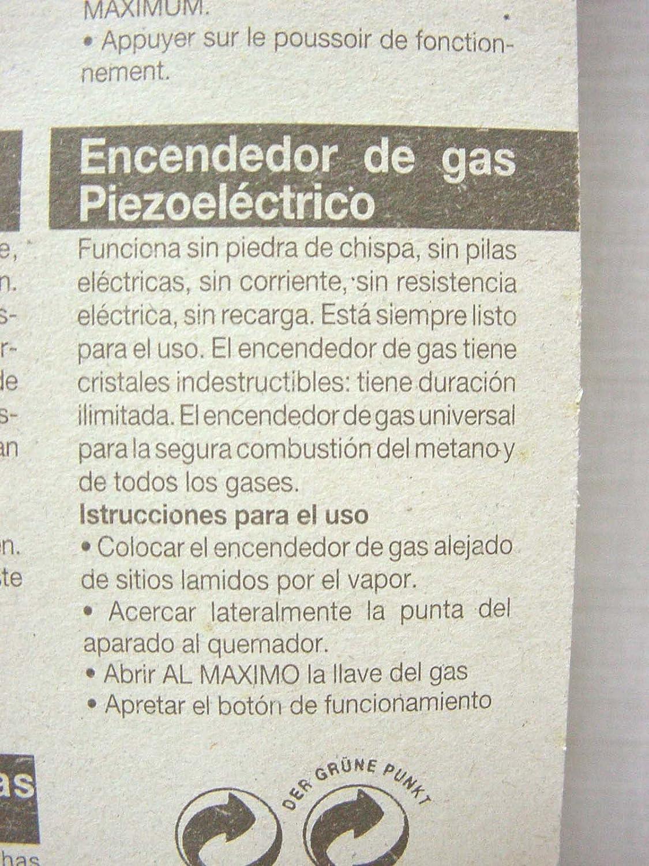 Compra ENCENDEDOR CHISPA PULSADOR PIEZOELECTRICO FABRICA ITALIANA GRANDE BLANCO VERDE en Amazon.es