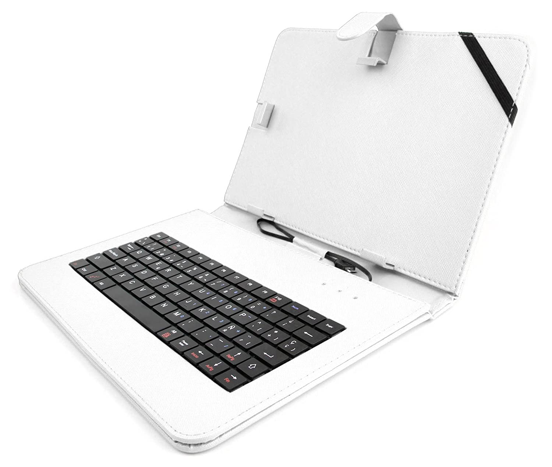 HD Full HD Conexi/ón MicroUSB L/ápiz Stylus DURAGADGET Funda//Teclado ESPA/ÑOL Rosa 10.1 para la Tablet BQ Aquaris M10 Ubuntu Edition 10.1
