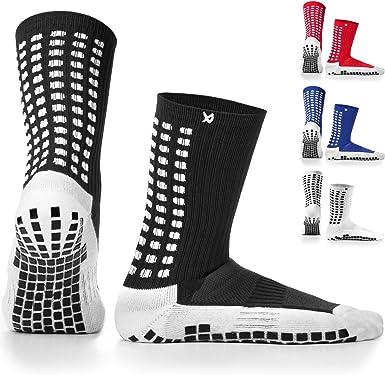 liderazgo Maldito travesura  Amazon.com: Lux Calcetines antideslizantes de fútbol, antideslizantes, para  fútbol, baloncesto, hockey, calcetines de agarre, Negro: Clothing