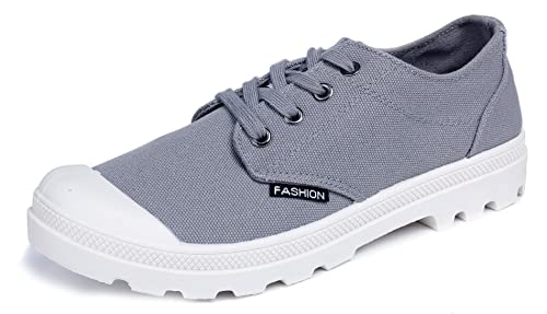 AgeeMi Shoes Hombre Mini Tacón Cordones Tacón Grueso Lona Zapatillas: Amazon.es: Zapatos y complementos
