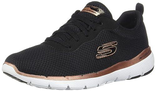 Skechers Damen Flex Appeal 3.0 Sneaker, hot pinkschwarz