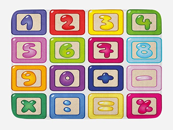"""Details about  /Colorful Composition Bath Mat Bathroom Decor Plush Non-Slip Mat 29.5/"""" X 17.5/"""""""