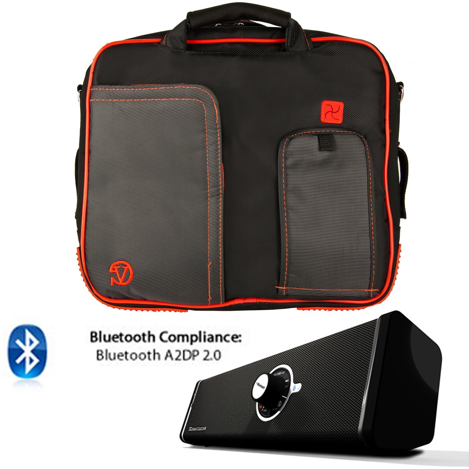 PINDAR Messenger Shoulder Carrying Bag Durable Case (Red Trim) For Samsung Galaxy Note 10.1 / Samsung Galaxy Tab 2 10.1