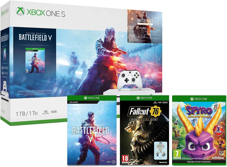 Xbox One S 1TB Battlefield V console + Spyro Trilogy Reignited + ...