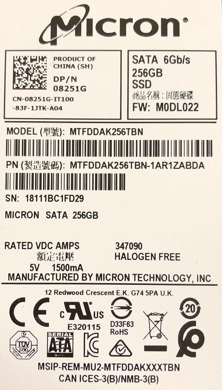 DELL 256GB 2.5-Inch SATA 6.0Gbps SSD [PN: 08251G]