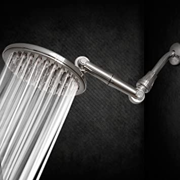 Shower Head | Rainfall High Pressure 9.5u201d With Adjustable Extension Arm |  109 Self