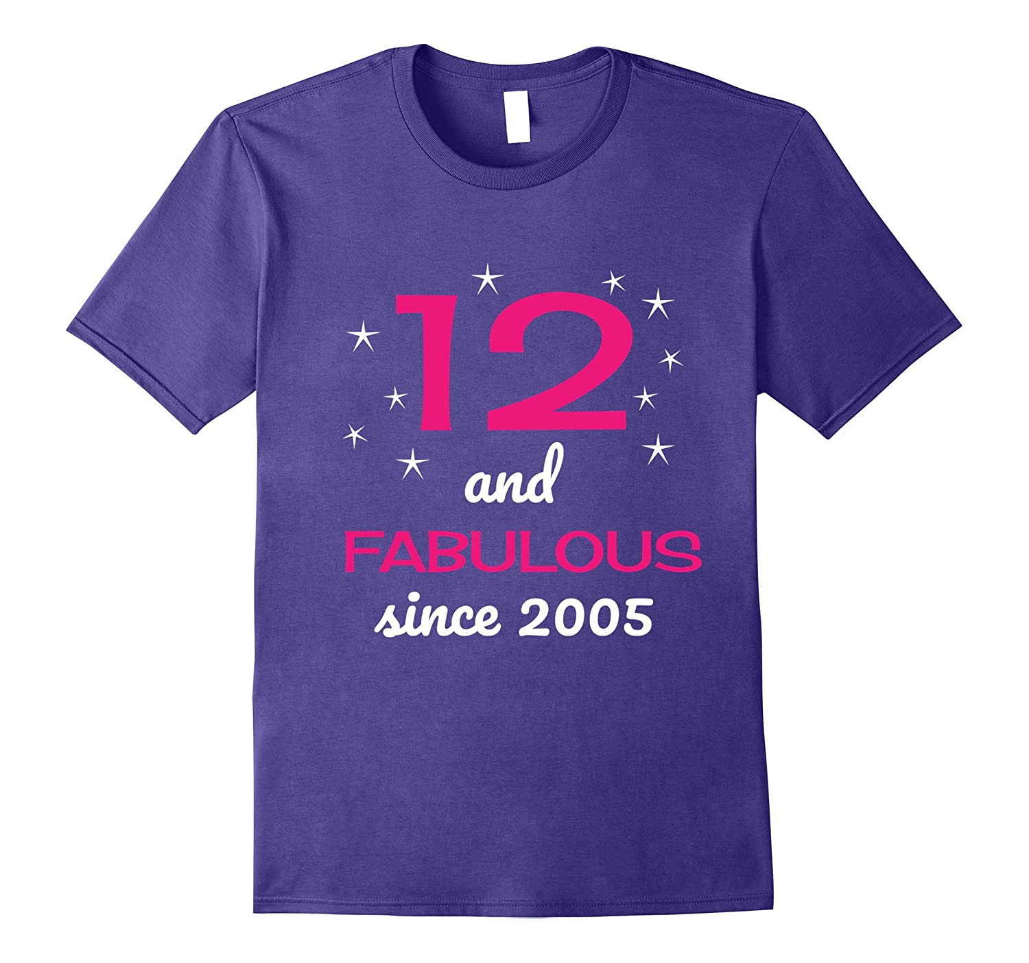 12 and Fabulous since 2005 t-shirt for 12 year old girls-T-Shirt