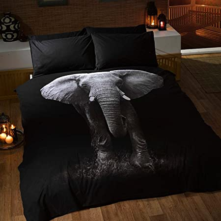 Copripiumino Matrimoniale Animali.Copripiumino Matrimoniale Fantasia Elefante Animali 3d Con Federe