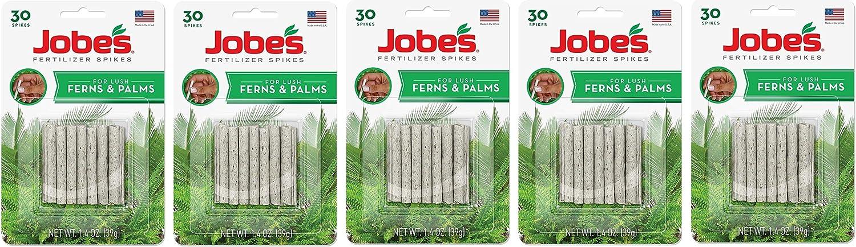 Jobe's 05101 Fern & Palm Fertilizer Spikes, 30 Per Pack, 5 Pack