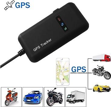 Hangang GPS Tracker, Localizador de Vehículo de Seguimiento en Tiempo Real GPS Locator para Coche, Moto, GSM, SMS, GPS, GPRS, App, Llaves Antirrobo: Amazon.es: Electrónica