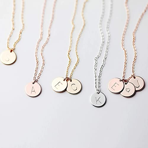 Personalized Necklace Gifts For Her Custom Necklace Gifts For Friend Heart Necklace Letter Necklace