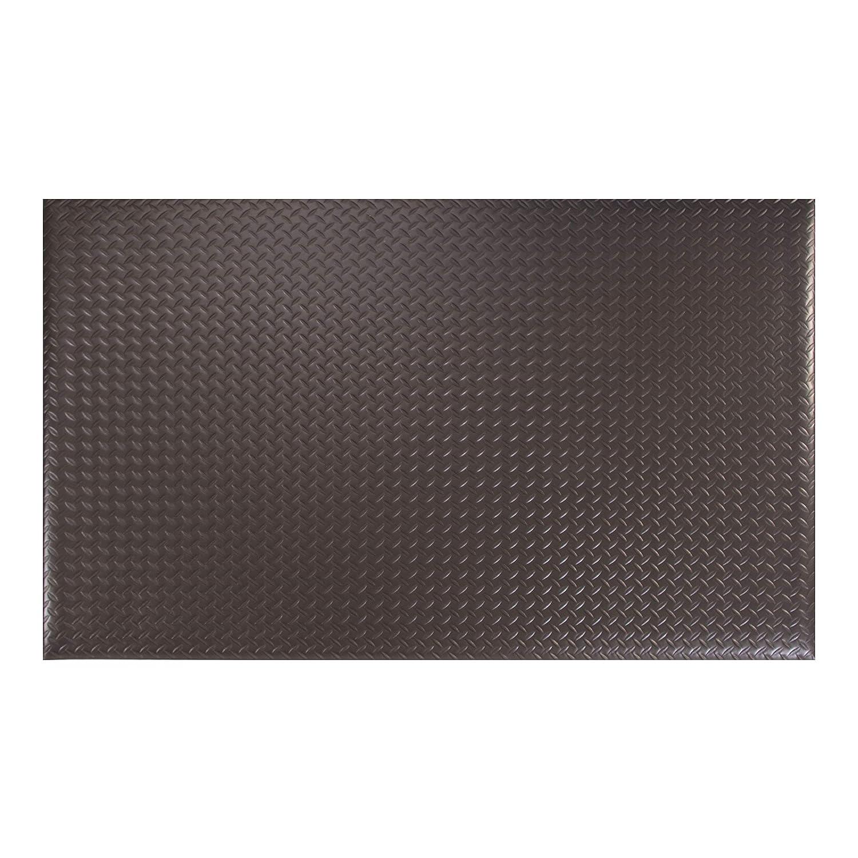 2X3 Black Basics Anti-Fatigue Mat Diamond Deckplate Single-Layer Foam 1//2