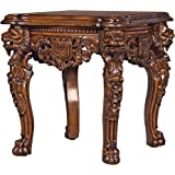 Design Toscano Lord Raffles Grand Hall Lion Leg Side Table