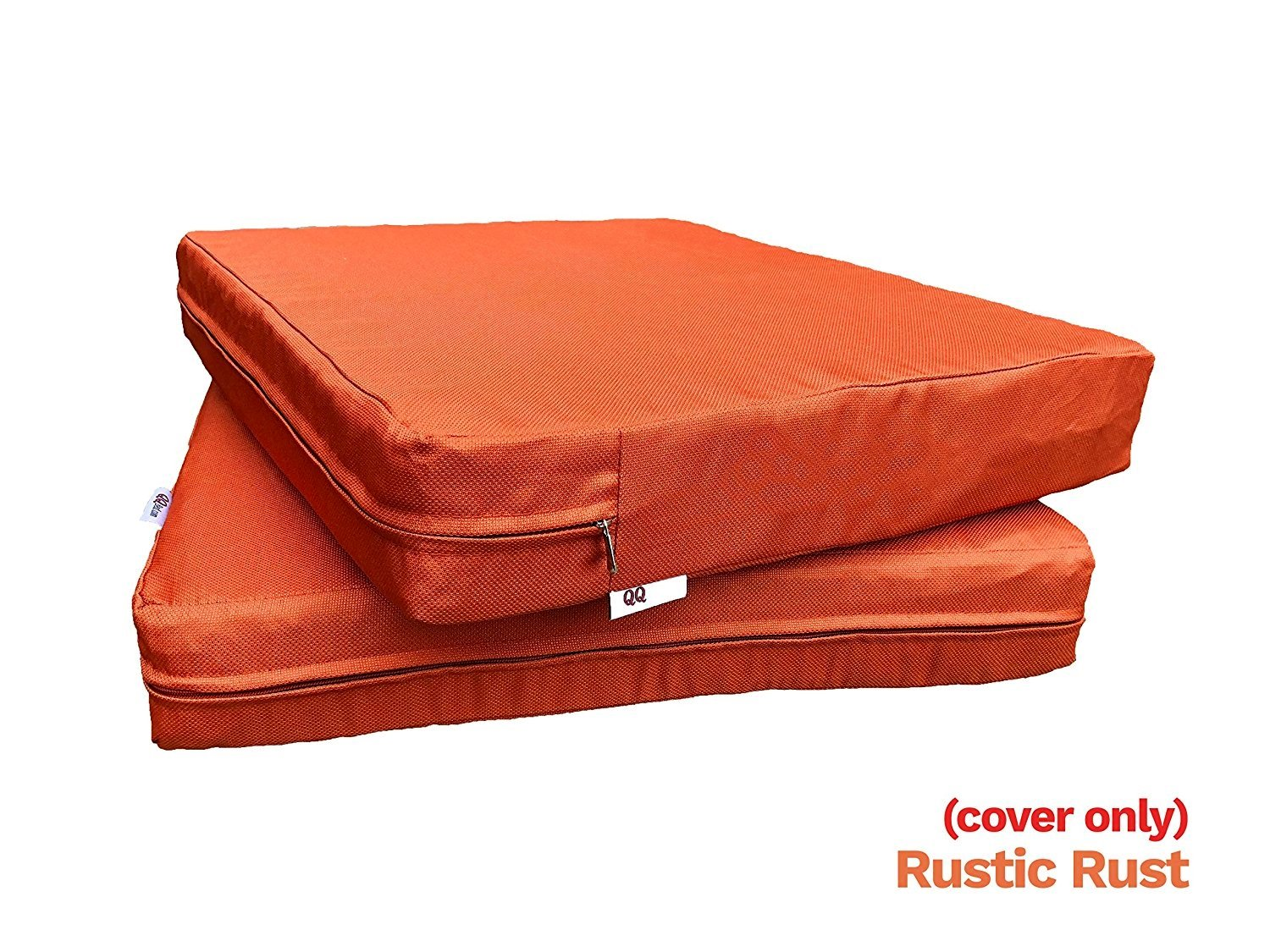 QQbed Outdoor Patio Chair Washable Cushion Pillow Seat Covers 24'' X 22'' - Replacement Covers Only (6Pack 24''X22'', Rustic Rust)