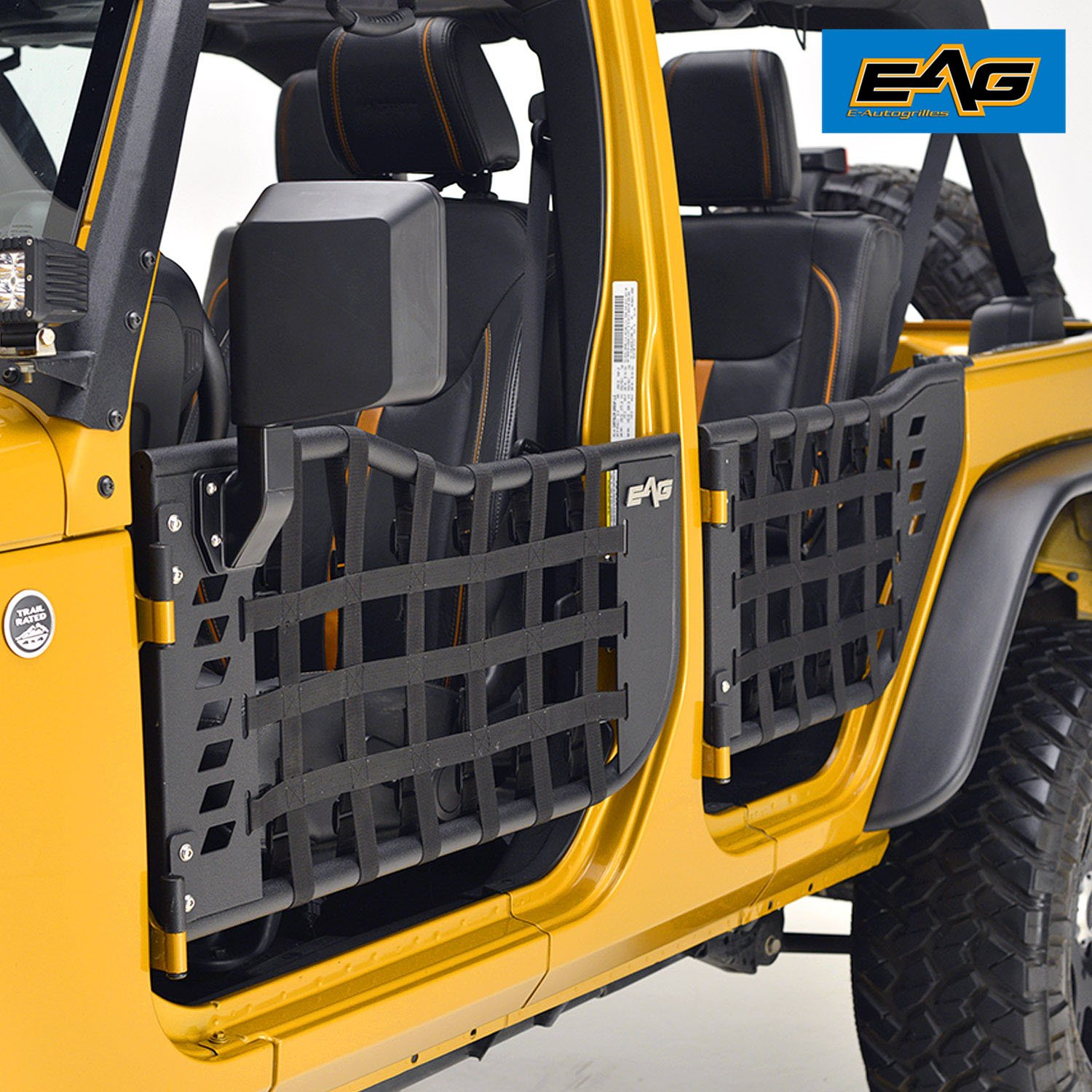 EAG Matrix Tubular Door for 07-17 Jeep Wrangler JK (4 Door Only) (With Mirrors) by E-Autogrilles